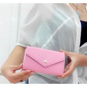 財布 レディース おしゃれ イヤフォンが閉じたまま使える スマートフォン対応 コインケース ピンク ofab134|y-mty