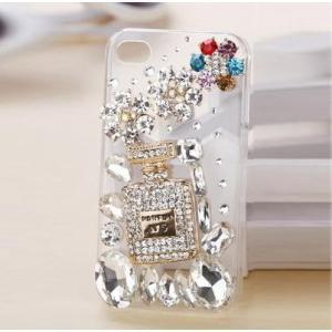 スマホケース おしゃれ iPhone7 ケース アイフォン7 カバー スマホカバー デコ ラインストーン 透明 キラキラ かわいい|y-mty