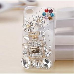 スマホケース おしゃれ iPhone7plus ケース アイフォン7plus スマホカバー デコ ラインストーン 透明 キラキラ かわいい|y-mty