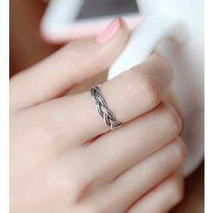 指輪 メンズ レディース おしゃれ 兼用 アクセサリー 編込み S925 リング ogab008|y-mty