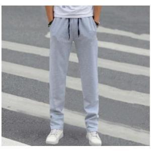 ジョガーパンツ メンズ おしゃれ ハーフパンツ ライトグレー ジョギング ストレート ワイド 太め phab301|y-mty