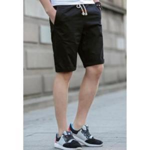 ショートパンツ メンズ おしゃれ ハーフパンツ ファッション 黒 ブラック 無地 夏 spab270|y-mty