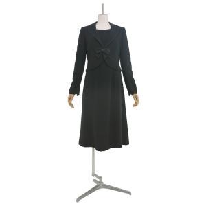 礼服レンタル0AZY102ブラックフォーマルスーツ(喪服)(レディーススーツ)