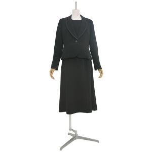 礼服レンタル0AZY105ブラックフォーマルスーツ(喪服)(レディーススーツ)