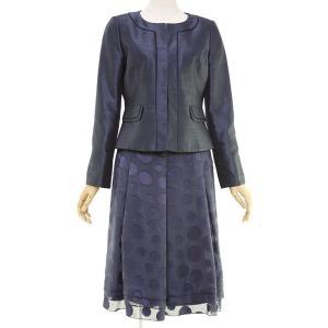 礼服レンタル0CX9001 ネイビー セレモニースーツ(レディーススーツ)