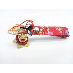 親子シーサーストラップ(紅型)南風堂 4個までメール便可|y-sansei-shop