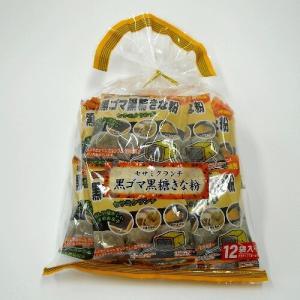 黒ゴマ黒糖きな粉 巾着12袋入 沖縄パイオニアフーズ|y-sansei-shop