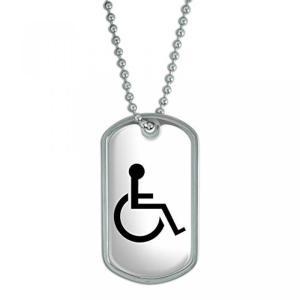 全国配送料無料!障害者障害者 - 軍ドッグタグ キーチェーン 海外正規流通品 並行輸入品|y-select-shop