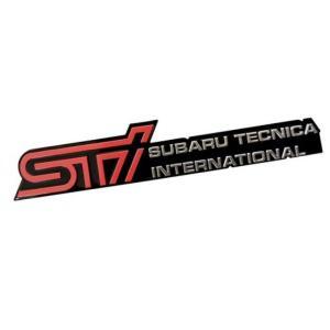 全国配送料無料!STi スバル テクニカ インターナショナル アルミ エンジン フード エンブレム バッジ表札スバル フォレスター ii タイプ M tS アウトバック|y-select-shop
