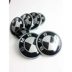 全国配送料無料!7 Pc 実質カーボン繊維/シルバー エンブレム ロゴの BMW 82/82 mm 海外正規流通品 並行輸入品|y-select-shop