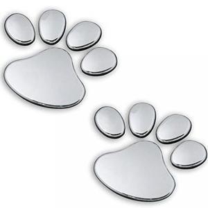 ■商品詳細 Silver metal 3D comic book Dog Feet emblem c...