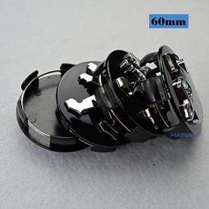 全国配送料無料!Hanway 黒銀色 4 本 60 mm プジョー エンブレム バッジ ステッカー ホイール ハブ キャップ センター カバー 海外正規流通品 並行輸入品|y-select-shop