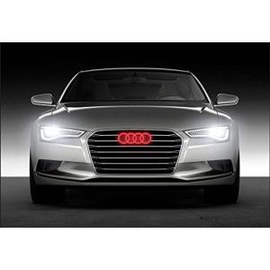全国配送料無料!Bearfire クールな LED エンブレム ロゴ グリッド LED バッジ フロント ライトのアウディ A1A3A4A5A6A7A8S3RS3 (赤) 海外正規流通品|y-select-shop