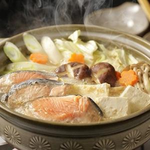 森町 ふるさと納税 寒い時期にピッタリ!【数量限定】北海 石狩鮭鍋セット