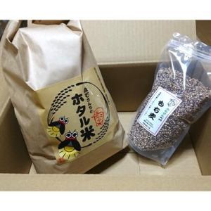 多久市 ふるさと納税 永石さんちのホタル米5kg+もち麦800gセット|y-sf