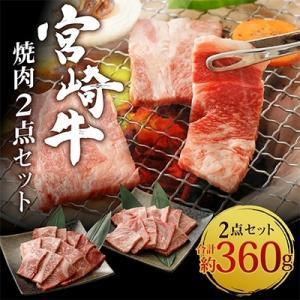 えびの市 ふるさと納税 宮崎牛焼肉2点セット(もも焼肉・肩ロース焼肉)