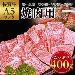嬉野市 ふるさと納税 佐賀牛A5焼肉用【厳選部位】(ロース肉・モモ肉・ウデ肉・バラ肉)400g