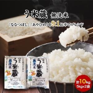 恵庭市 ふるさと納税 【令和元年産】う米蔵無洗米5kg×2袋 合計10kg