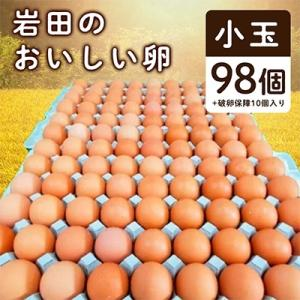 榛東村 ふるさと納税 岩田のおいしい卵 小玉98個+破卵保障10個入り
