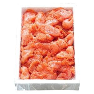 吉田町 ふるさと納税 はねうお食品工場直送 無着色 訳あり 切れ子 辛子明太子 並切 1kgの画像