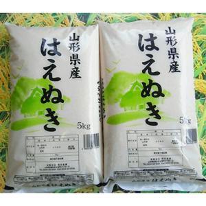酒田市 ふるさと納税 令和の時代も米処の庄内米 はえぬき精米 計10kg(5kg×2袋)