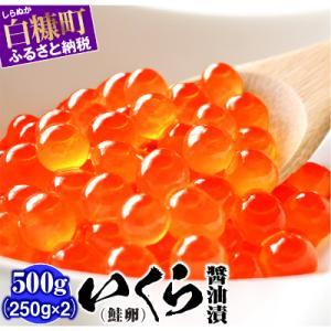 白糠町 ふるさと納税 いくら醤油漬(鮭卵)【500g(250g×2)】 y-sf