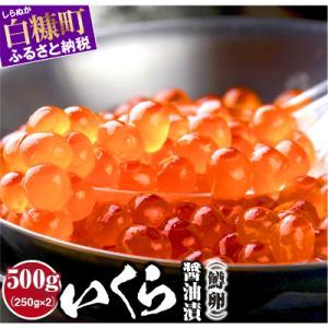 白糠町 ふるさと納税 いくら醤油漬(鱒卵) 【500g(250g×2)】 y-sf