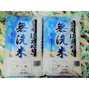 酒田市 ふるさと納税 令和の時代も米処の庄内米 無洗米はえぬき精米 計10kg(5kg×2袋)【令和2年産】|y-sf
