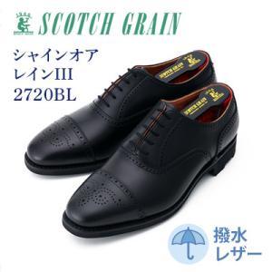 墨田区 ふるさと納税 紳士靴スコッチグレイン「シャインオアレインIII」 NO.2720 ブラック ...