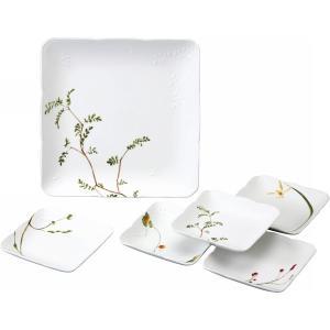 ナルミ 里花暦 スクエアパーティセット 40912‐32925 || 内祝 食器 ガラス ガラス食器...