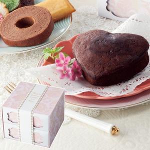 スイートジュエル ハートケーキセット ショコラバウム MO-15 || お菓子 菓子折り 洋菓子 焼...