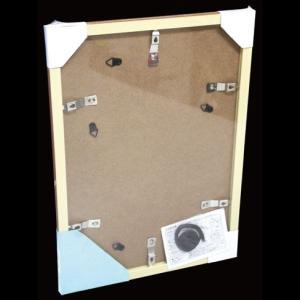フォトフレーム A4 ワイド四切 多窓兼用 マット2枚付き 壁掛けフォトフレーム・額縁・写真立て ブラウン ナチュラル パールホワイト 万丈|y-sharaku|06