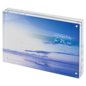 アクリルマグネットフレーム フォトフレーム 2L判 フ-ACM-2L ナカバヤシ 受発注商品|y-sharaku
