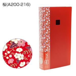 N360フォトアルバム L判写真360枚収納 和みシリーズ 桜 万丈|y-sharaku