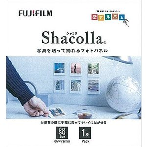シャコラ(shacolla) 壁タイプ チェキSQサイズ ホワイト 単品 富士フイルム|y-sharaku