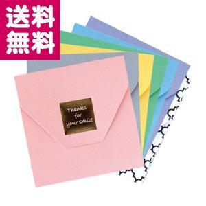 チェキ グリーティングフォルダー スクエア用 6色入 ペールトーン 富士フイルム ゆうパケット便 送料無料|y-sharaku