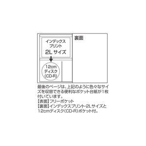 ポケットアルバム L判3段 246枚収納 クラウド FINN-7765-67 フィンダッシュ セキセイ 受発注商品|y-sharaku|05