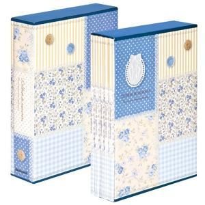 5冊ソフトボックス ポケットアルバム L3段270枚収納 パッチワーク柄 ブルー 5PL-270-31-B ナカバヤシ|y-sharaku