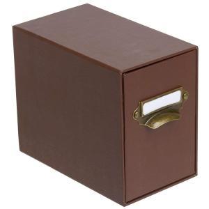 ストックボックス STOCK BOX ブラウン PHSB-101-BR ナカバヤシ 受発注品|y-sharaku