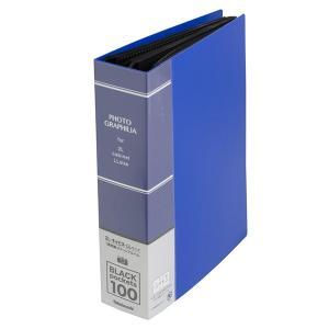 ポケットアルバム 2L判1段100枚収納 溶着式 ブルー PH2L-1010-B フォトグラフィリア ナカバヤシ 受発注商品|y-sharaku