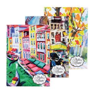 ミニポケットアルバム チェキサイズ1段 12枚収納×3冊セット 絵画柄 ア-PAC-3P-1 ナカバヤシ|y-sharaku