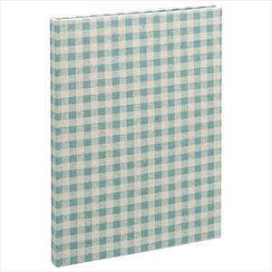 ブック式フリーアルバム 100年台紙 B5サイズ ナチュラルチェック ブルー アH-B5B-172-B ファブリックスタイルシリーズ ナカバヤシ 受発注商品 y-sharaku 02