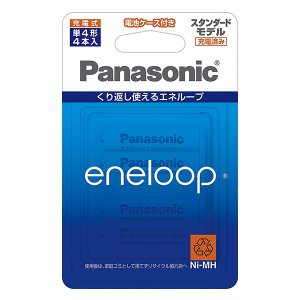 eneloop/エネループ 単4形 4本パック(スタンダードモデル) BK-4MCC/4C|y-sharaku