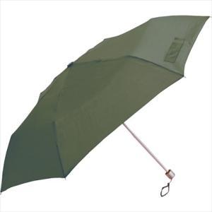 傘 スリムタイプ 三段折傘 50cm 無地 グリーン|y-sharaku