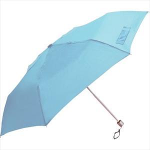 傘 スリムタイプ 三段折傘 50cm 無地 サックス|y-sharaku