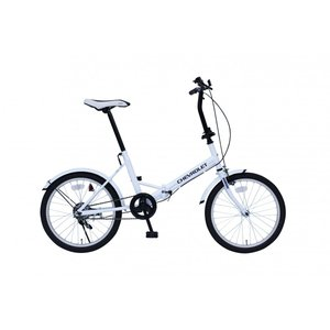 折りたたみ 自転車 20インチ CHEVROLET FDB20E ホワイト MG-CV20E 受発注商品 y-sharaku
