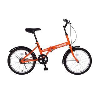折りたたみ自転車 20インチ FIELD CHAMP FDB20 オレンジ MG-FCP20 受発注商品 送料無料 代引不可 y-sharaku