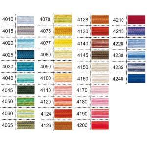 ひとつの糸で幅広い色彩を持つカラーバリエーション糸の5番糸タイプ。 パールのような輝きとサテンのよう...