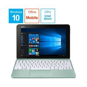 ASUS(エイスース) TransBook 10.1型ノートパソコン Atom x5 メモリ4GB eMMC64GB Office付き Windows10 ミントグリーン T101HA-64MGZP (T101HA64MGZP)|y-sofmap