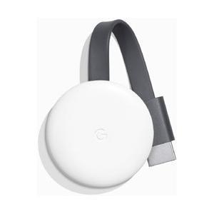 〔Chromecast〕 テレビの HDMI 端子に差し込むメディア ストリーミング デバイス。